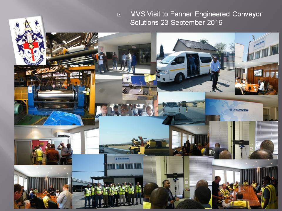 MVS Visit to Fenner Engineered Conveyor Solutions 23 September 2016