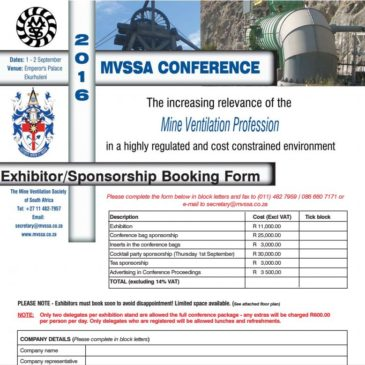 Exhibitor/Sponsorship Booking Form