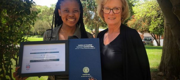 M Thale - Best Wits Minig and Ventilation Certificate student for 2016